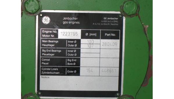Used Jenbacher J320GS C81 Natural Gas Generator
