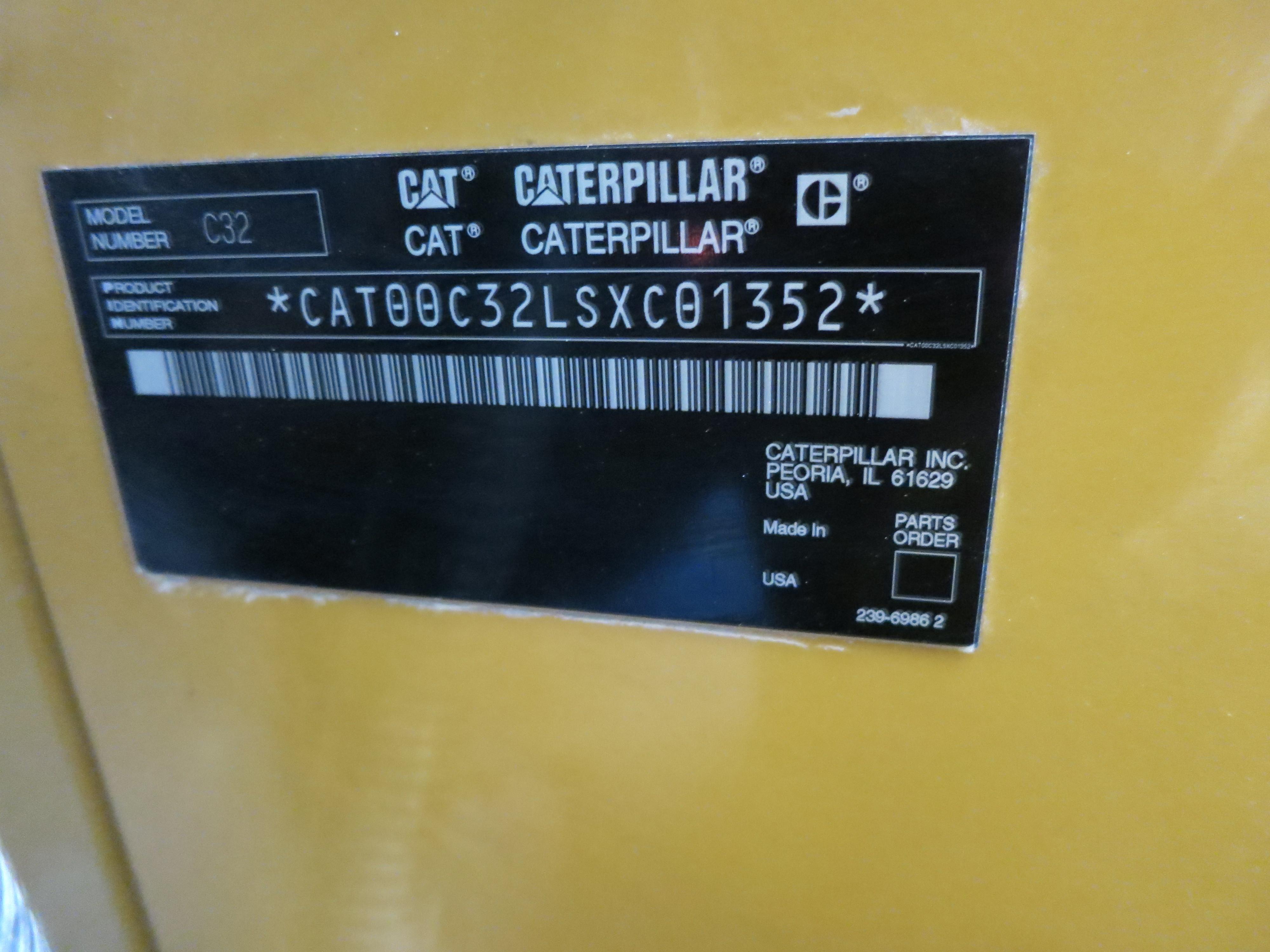 Used Caterpillar C32 Diesel Generator