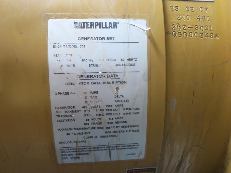 Used Caterpillar C32 Diesel Generator 1712 Hrs Epa Tier