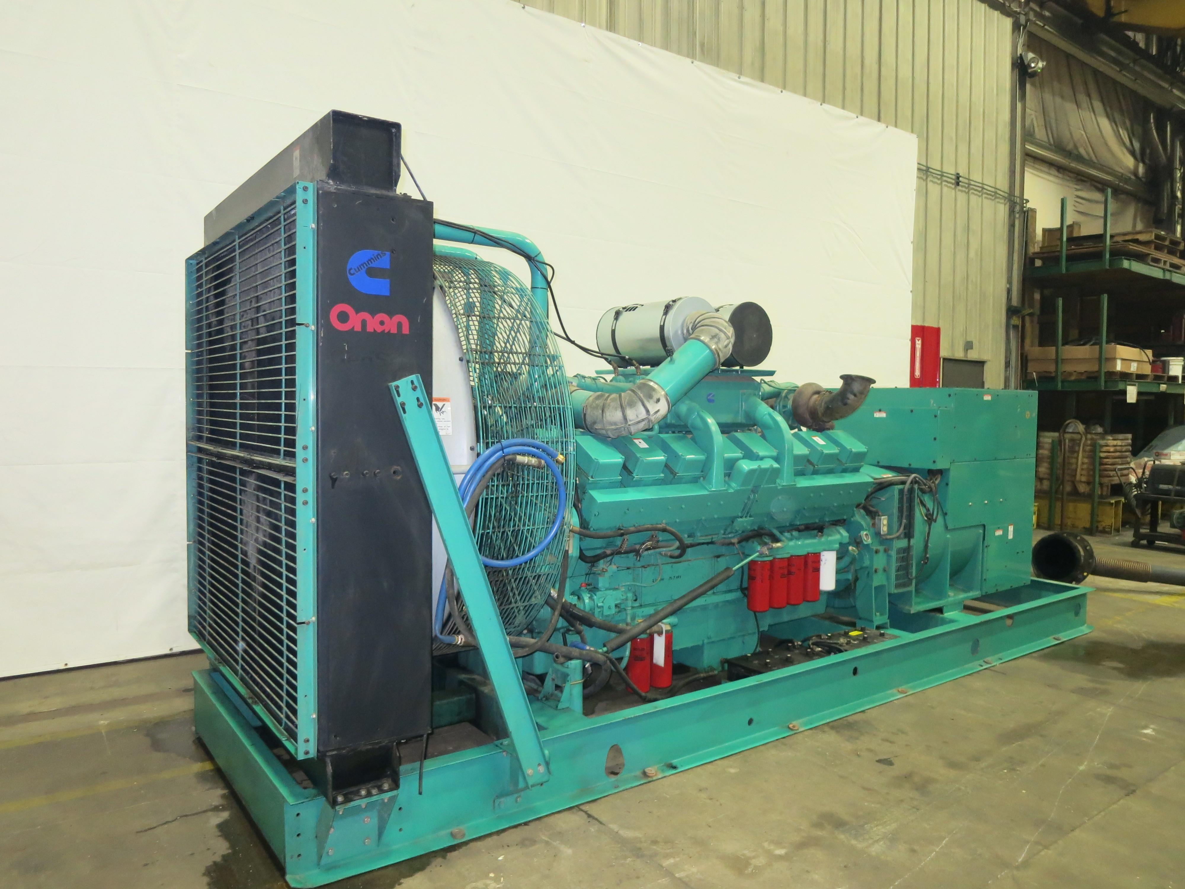 Used Cummins KTA50-G2 Diesel Generator   525 Hrs   1100 KW   0 Price   CSDG