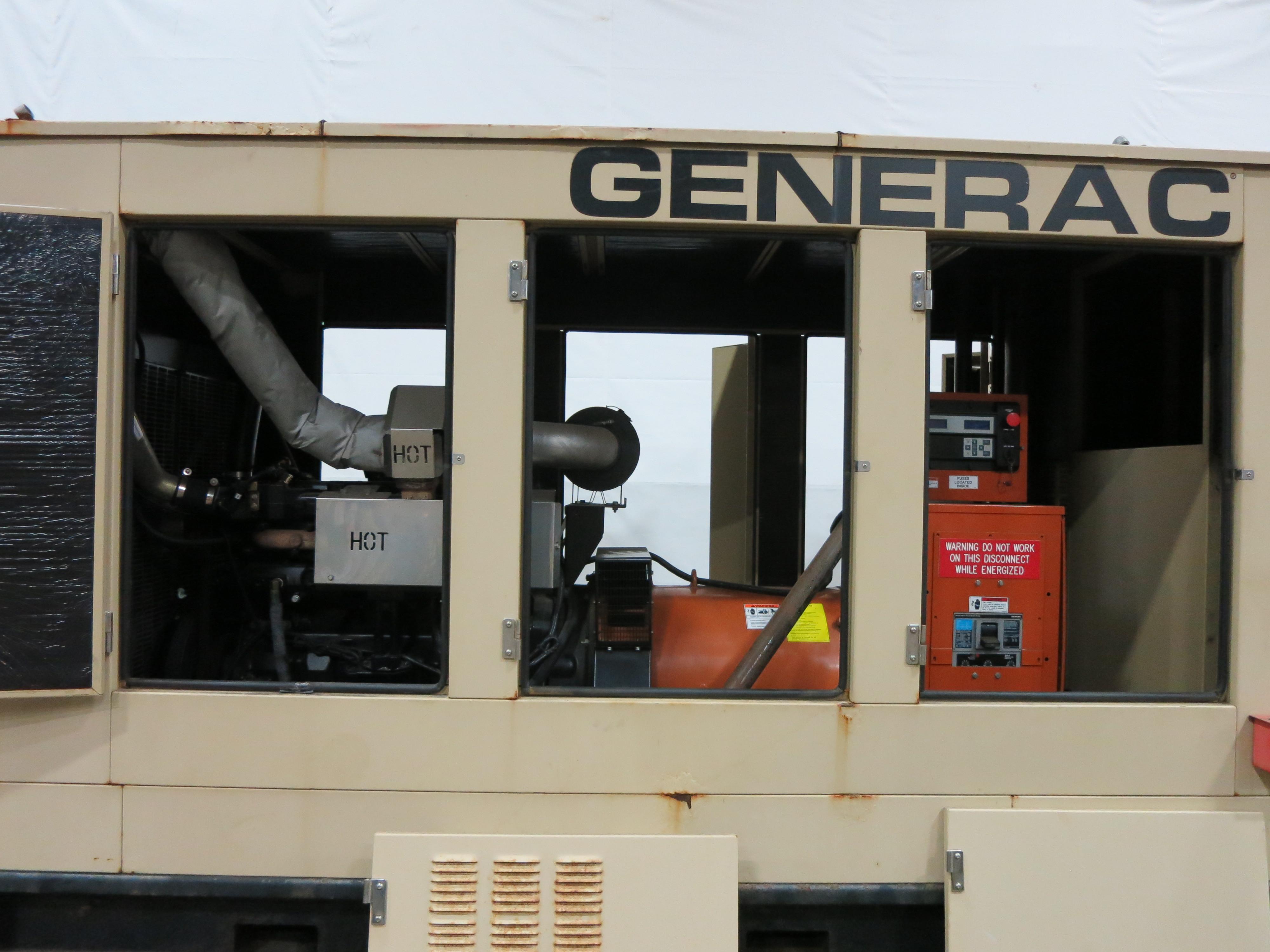 Used Generac John Deere 6090HF484 Diesel Generator 212 Hrs