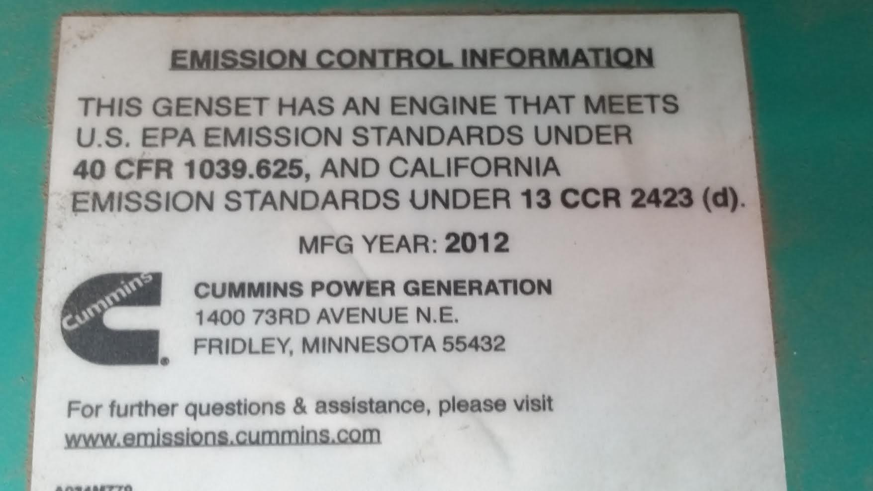 Used cummins qst30 g5 nr2 diesel generator 1000 kw 0 price csdg cheapraybanclubmaster Choice Image