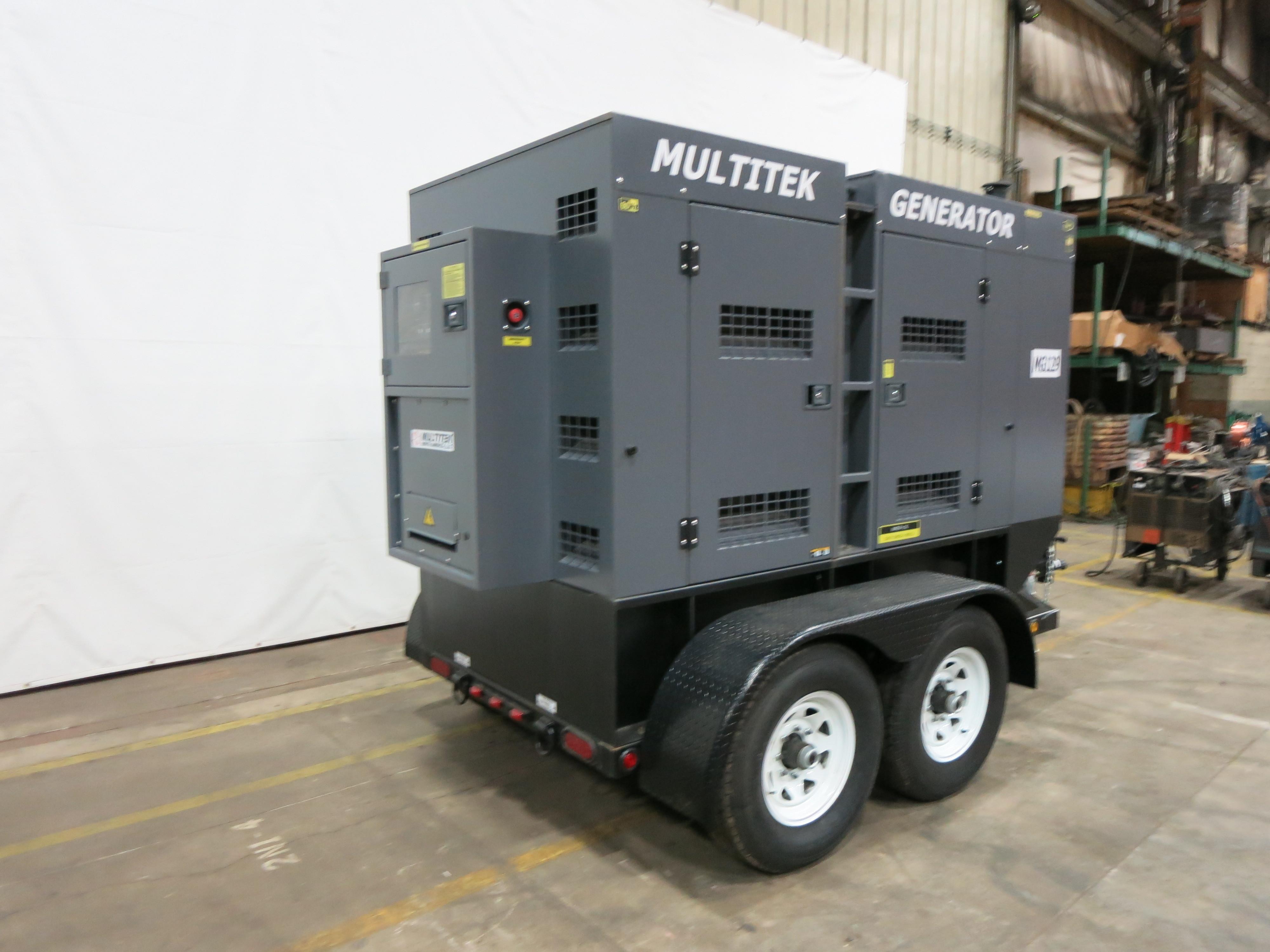 New Multitek MG129 Rental Grade Diesel Gen QTY 8