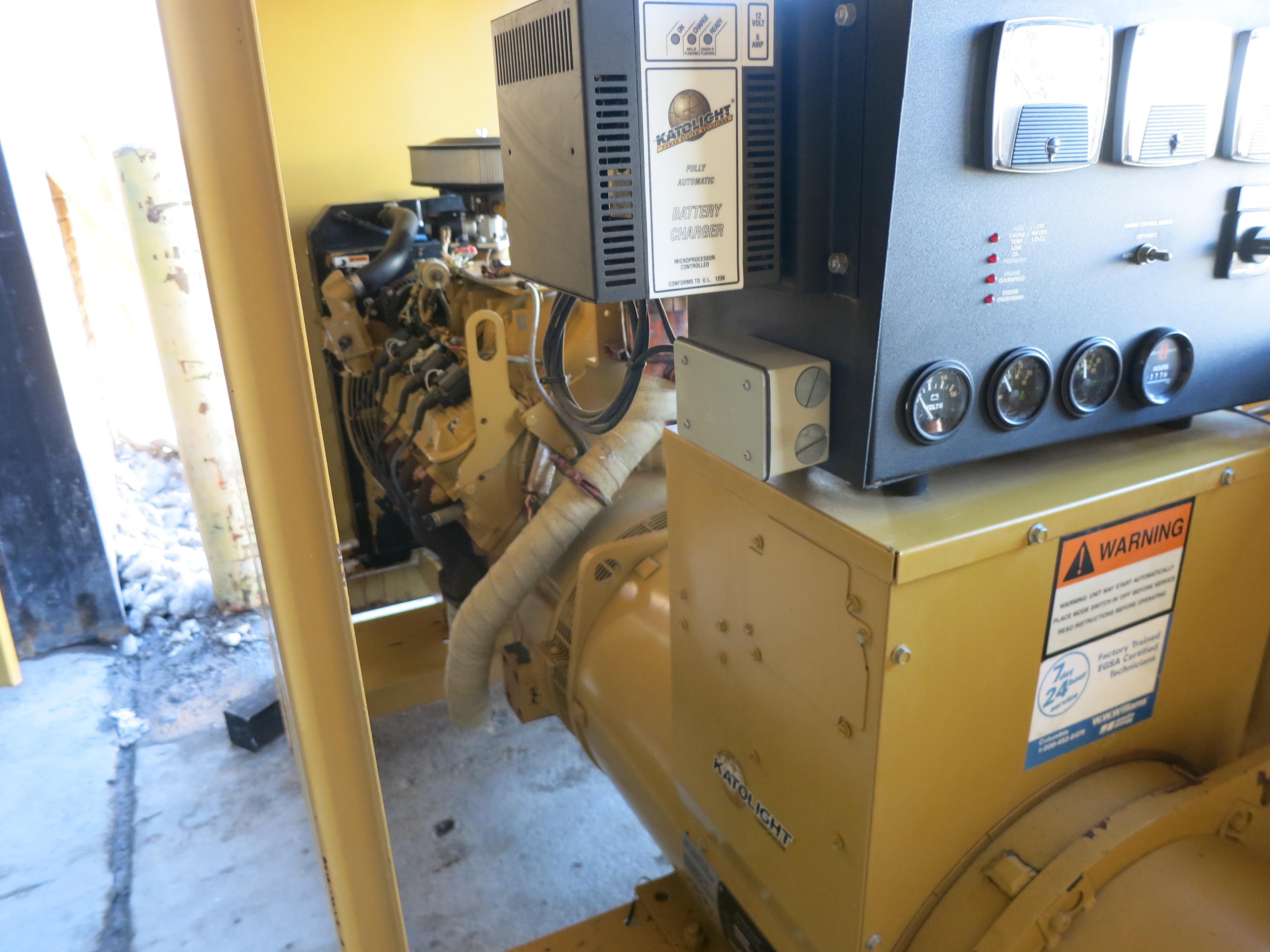 Used Katolight N100FPG4 Natural Gas Generator | 277 Hrs | 100 KW | 17500  Price | CSDG