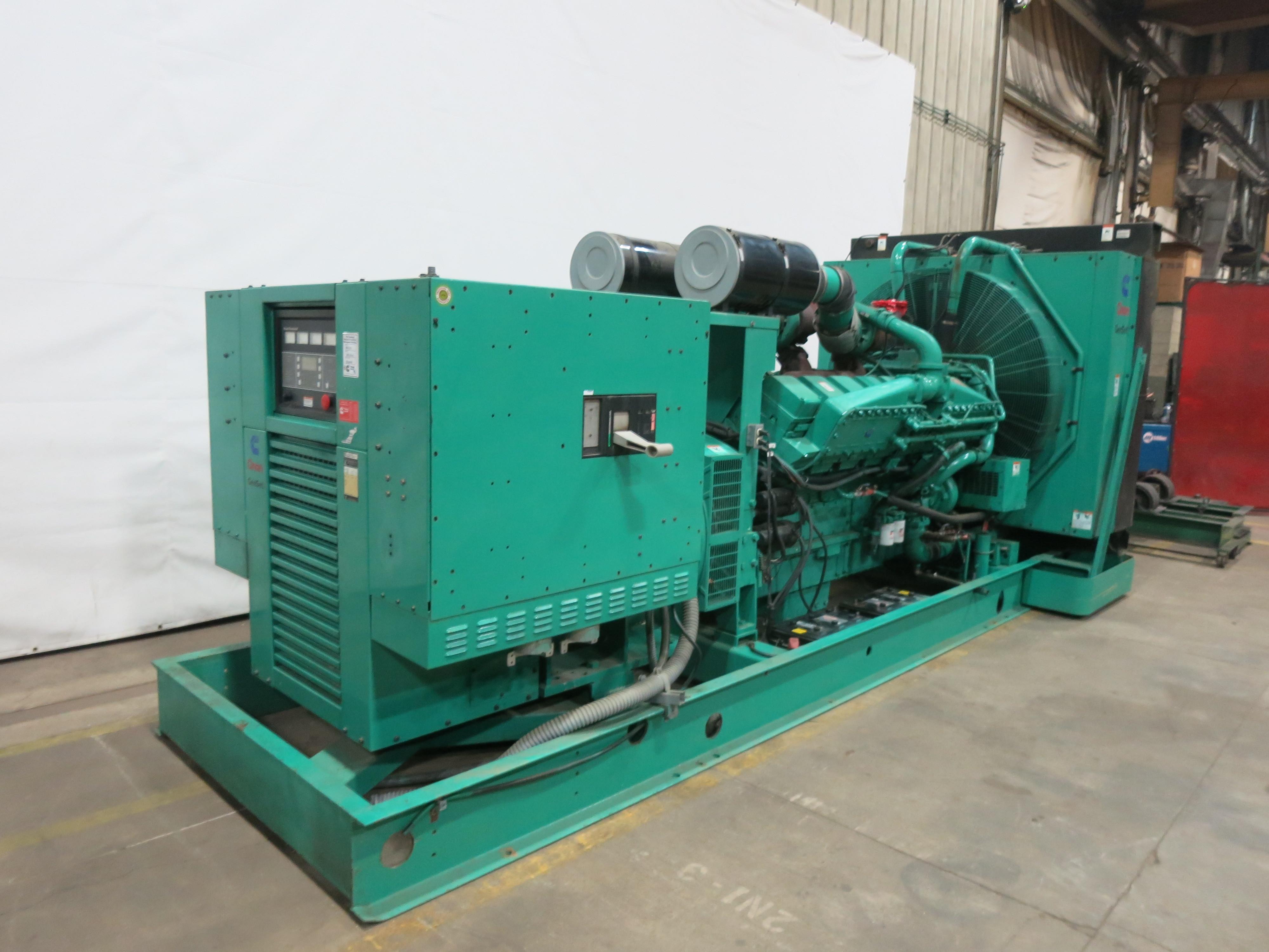 Used Cummins DFLC KTA50-G3 Diesel Generator   367 Hrs   1250 KW   0 Price    CSDG