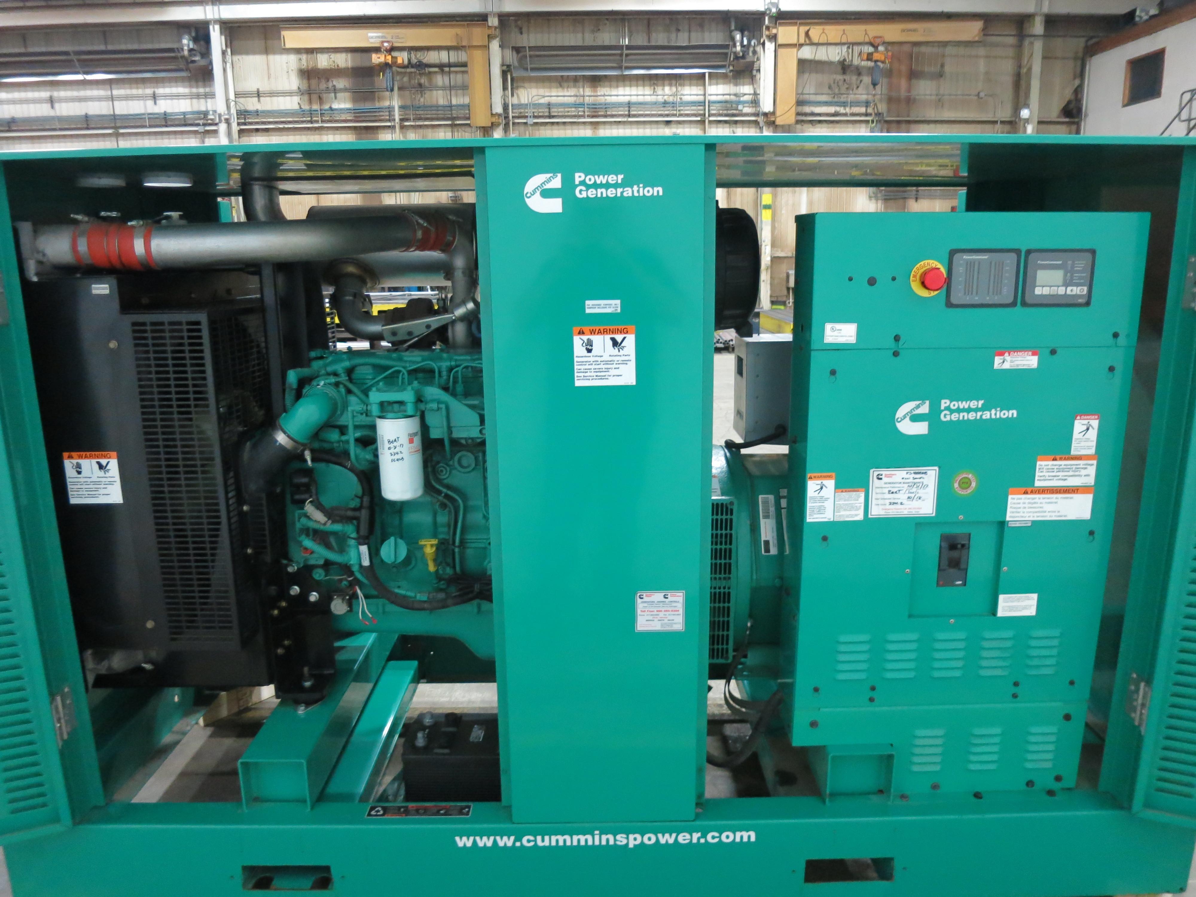 Used Cummins DSGAC Diesel Generator | 407 Hrs | EPA Tier 3 | 150 KW | 0  Price | CSDG