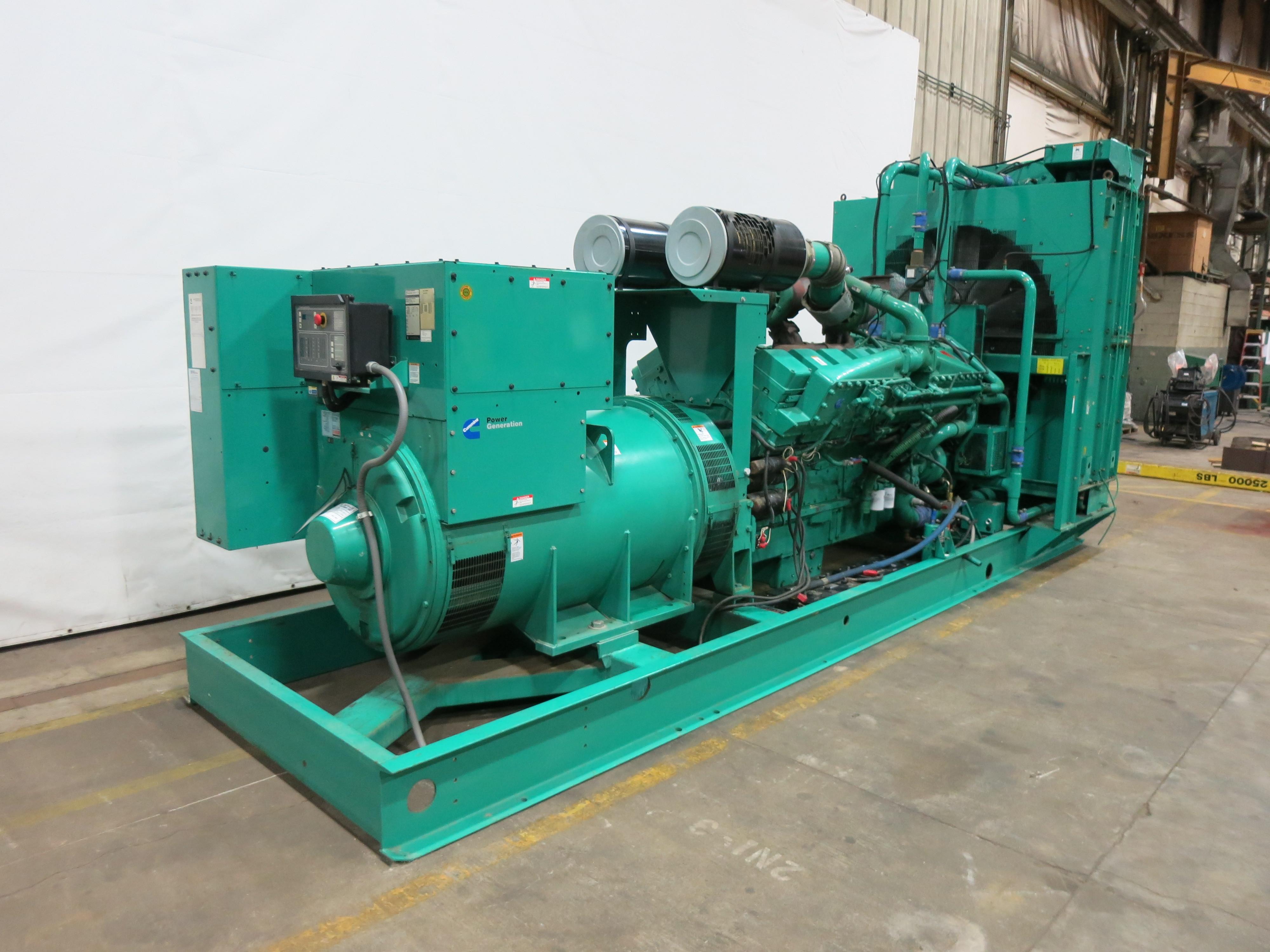 Used Cummins DFLE KTA50-G9 Diesel Generator | 575 Hrs | 1500 KW | 0 Price |  CSDG