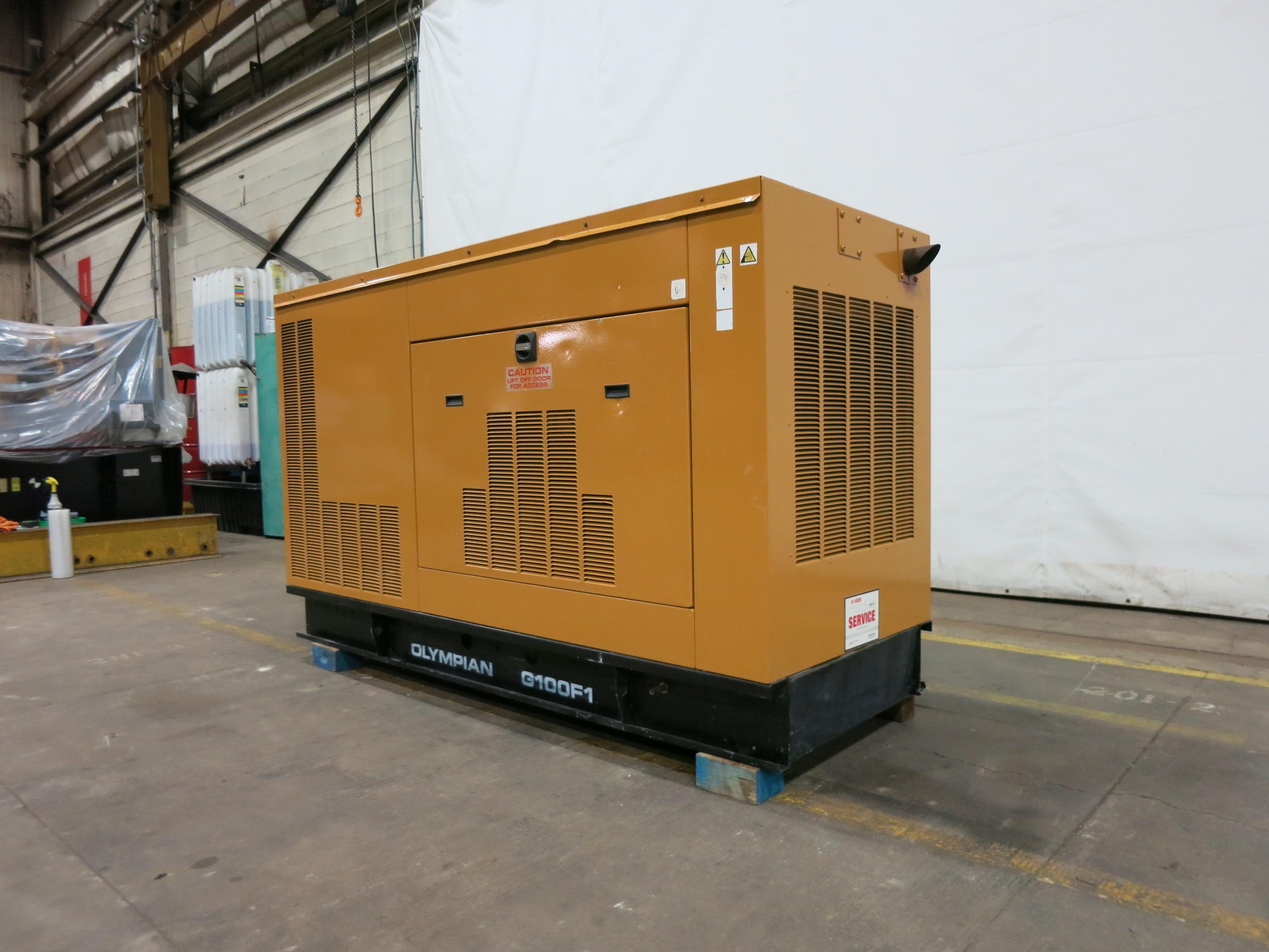Used Caterpillar / Olympian G100F1 Natural Gas Generator, 227 Hrs