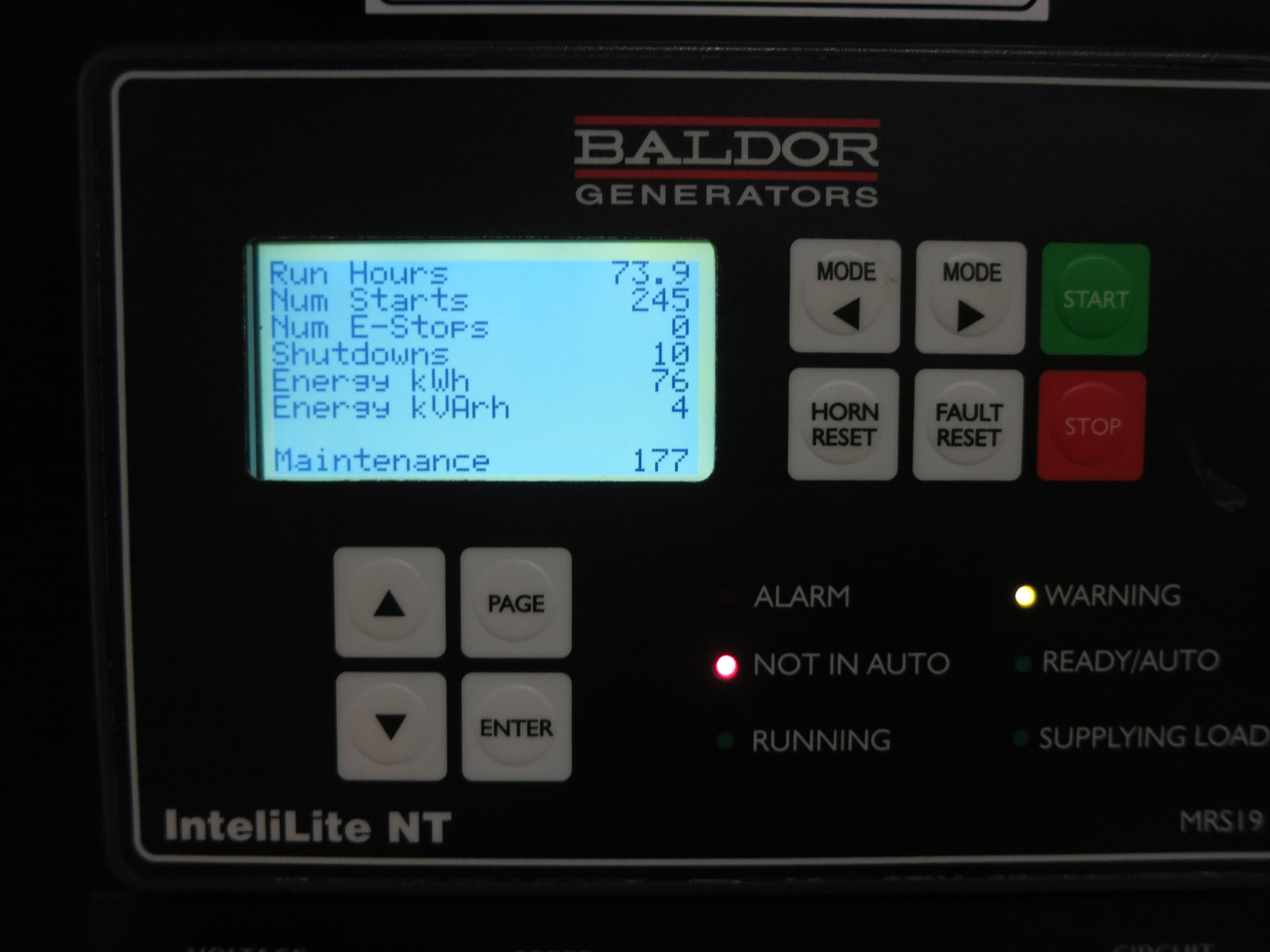 Used Baldor Iglc35 2gu Natural Gas Generator 74 Hrs 30 Kw 0 Motor Maintenance Manual Price Csdg
