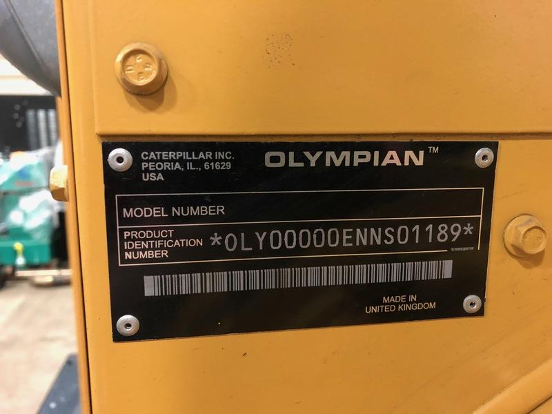 Used Caterpillar D200P4 Diesel Generator, 219 Hrs
