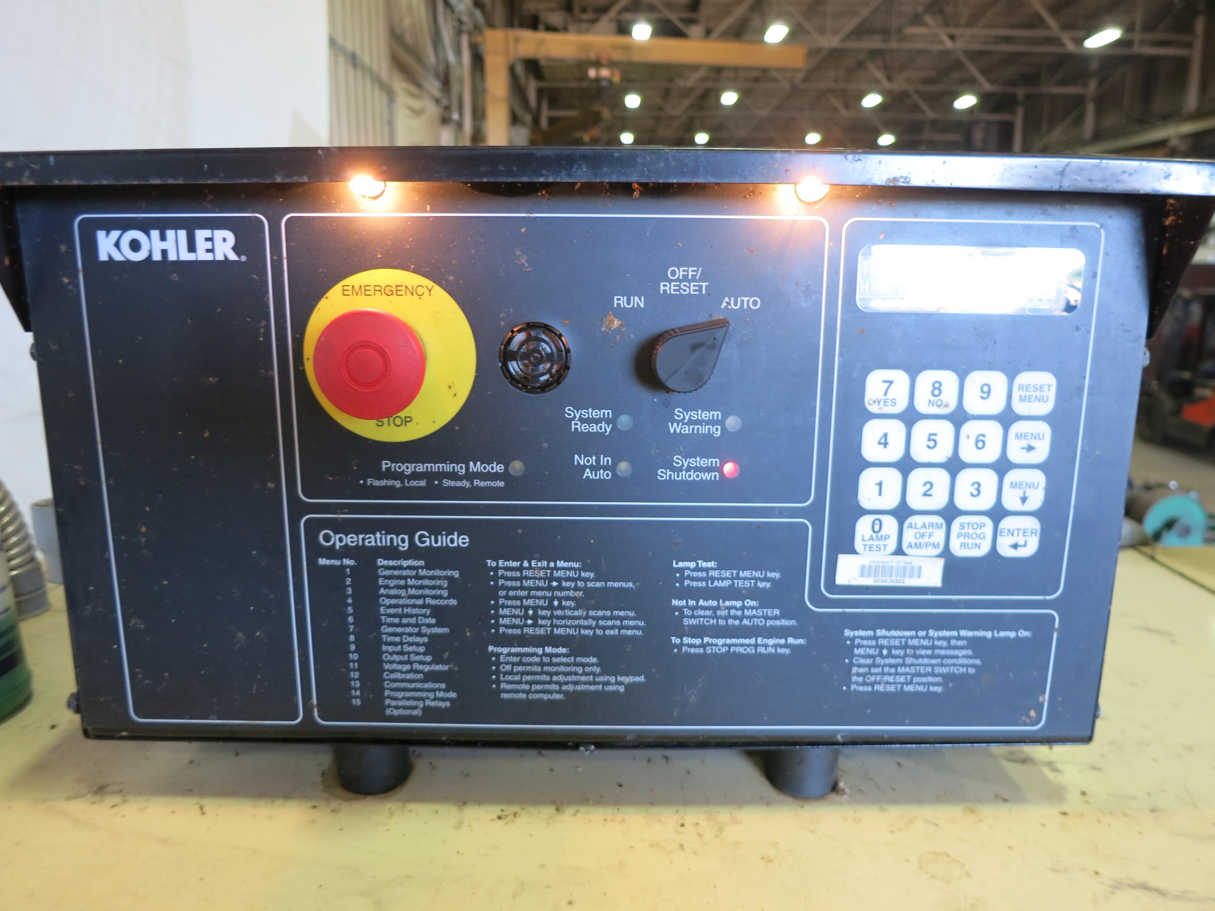Used Kohler 750REOZDB Diesel Generator, 176 Hrs