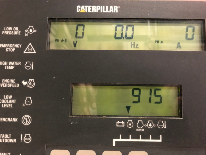 Used Caterpillar 3412 Diesel Generator 915 Hrs 600 Kw