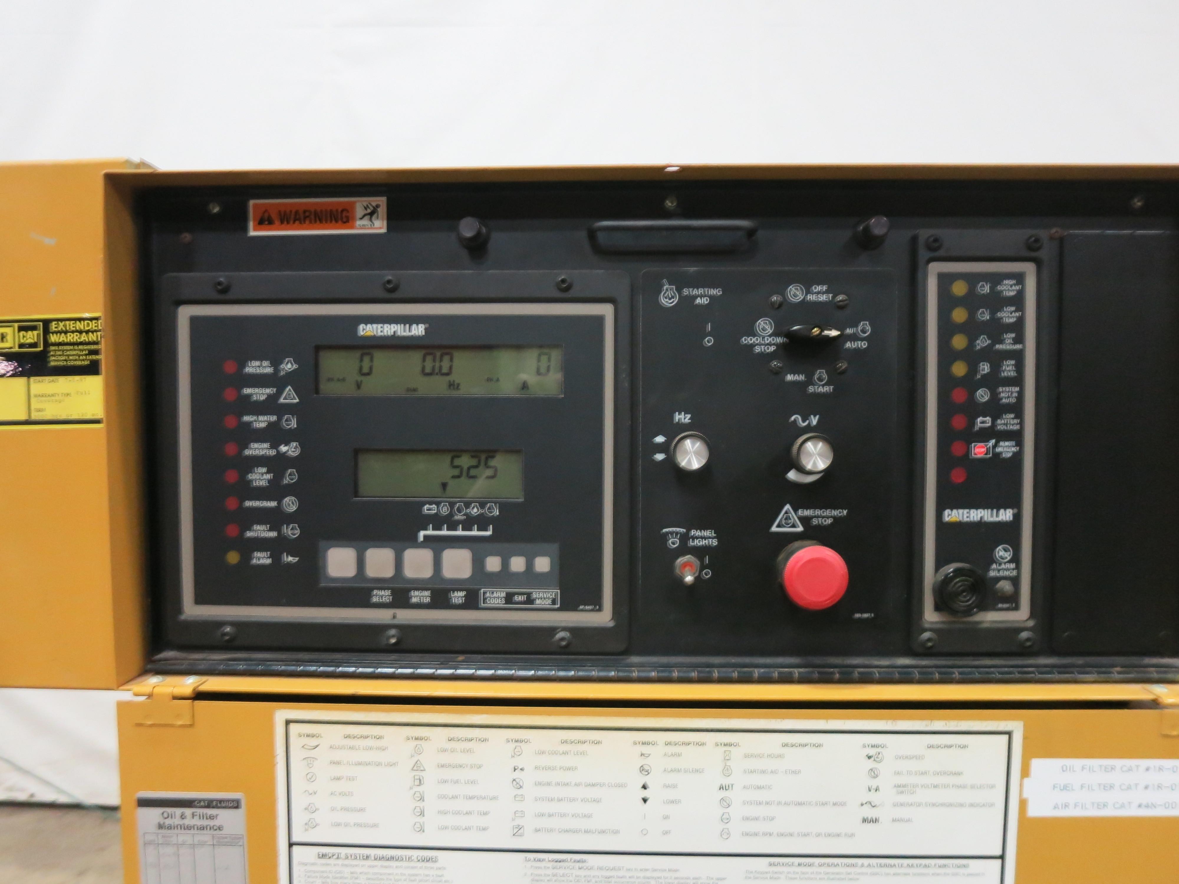 Used Caterpillar 3406 Diesel Generator, 525 Hrs