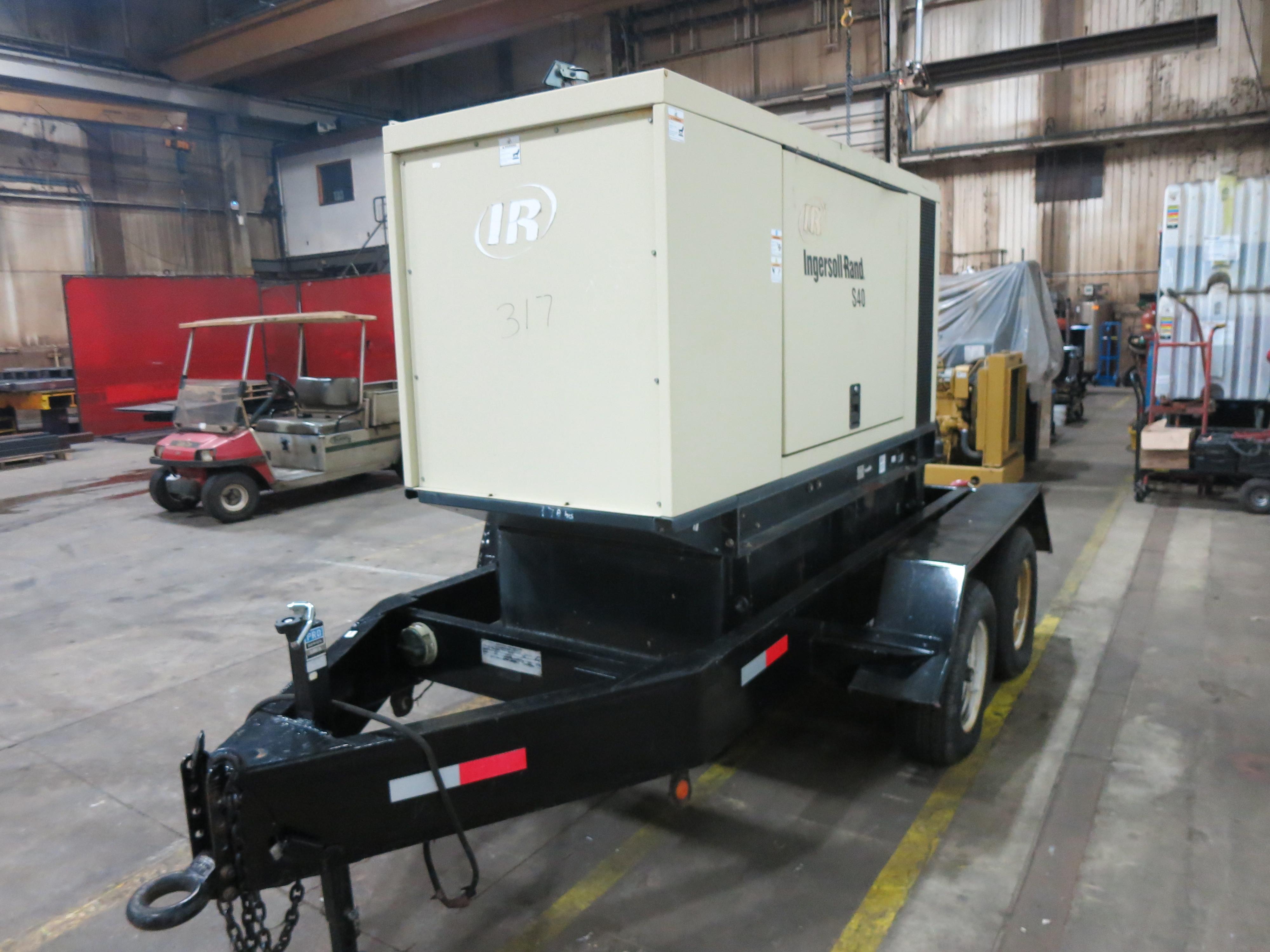 Used Ingersoll Rand S40 Rental Grade Diesel Generator, 179 Hrs