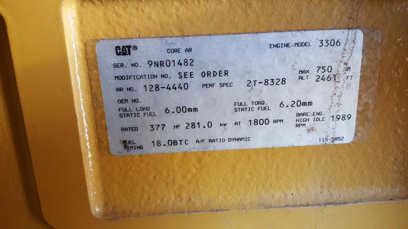 Used Caterpillar 3306 Diesel Generator  326 Hrs