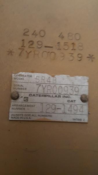 Used Caterpillar 3306 Diesel Generator 326 Hrs 250 Kw