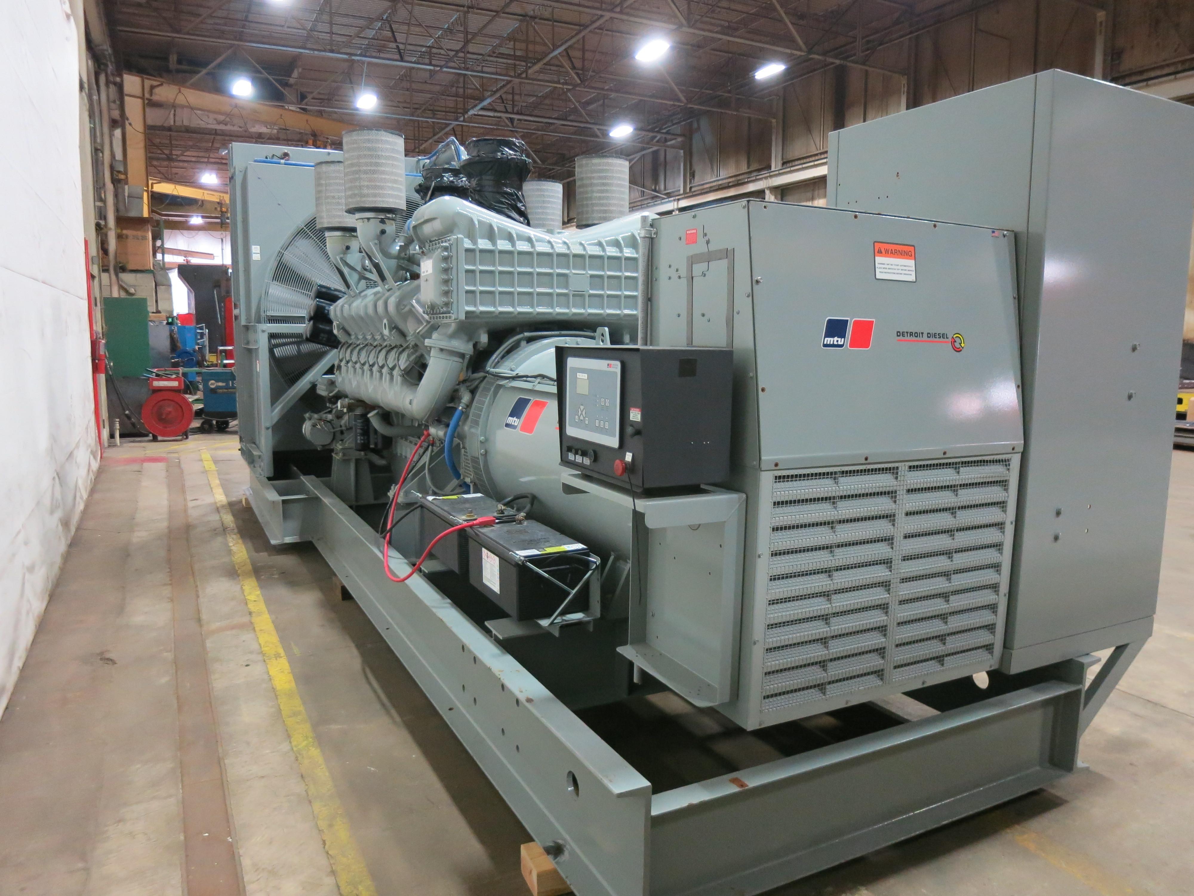 Used MTU 2250RXC6DT2 Diesel Generator, 130 Hrs, EPA Tier 2
